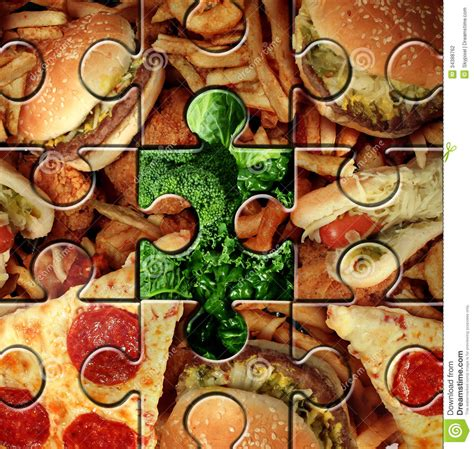 puzzle cuisine breaking bad habits stock photography image 34388762