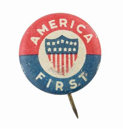America Committee Button Isolationism States United War