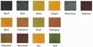 Color Charts Rush Decorative Concrete