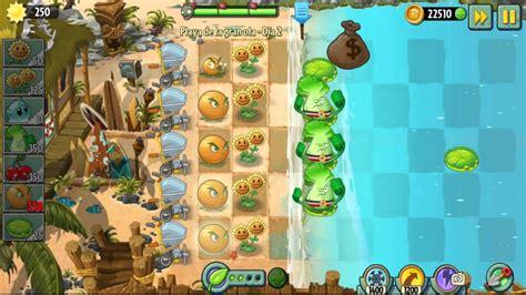plants vs zombies 2 playa de la gran ola dia 1 2 3 4