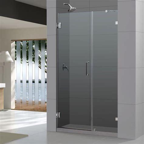 dreamline shower door dreamline unidoor 48 quot frameless hinged shower door