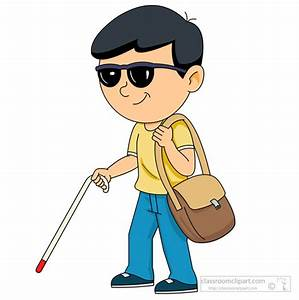 People Clipart- blind-person-with-cane-clipart-105 ...