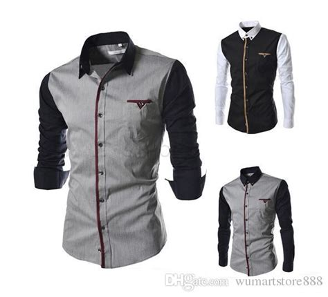 mens business shirt casual long sleeved