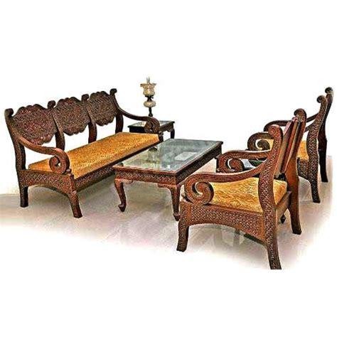 wooden settee designs wood 5 seater designer sofa set rs 125000 set heritage