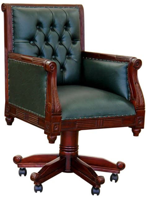fauteuil de bureau anglais chesterfield vert meubles de