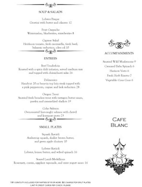 Chandelier Bar Menu by Chandelier Dining Menu Template Archive