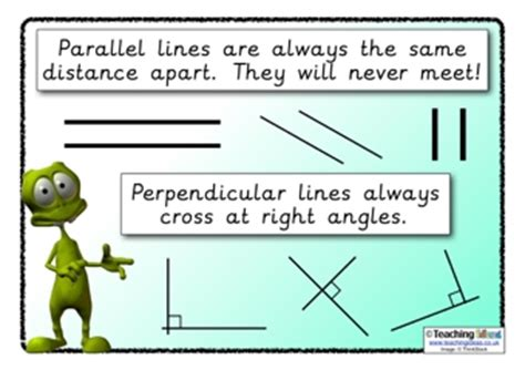 Parellel  Perpendicular Poster  Teaching Ideas