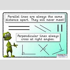 Parellel  Perpendicular Poster  Teaching Ideas