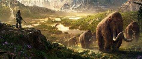 takkar mammoths  cry primal game wallpaper wallpapersbyte