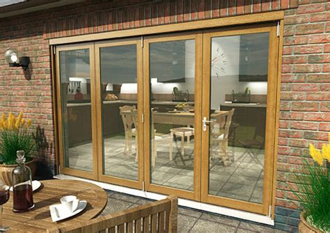 solid oak bifold doors climadoor supreme external folding