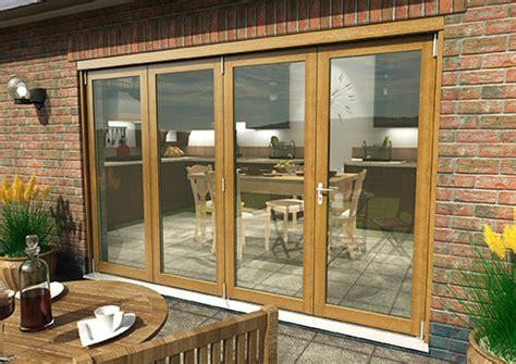 bifold patio doors solid oak bifold doors climadoor supreme external folding