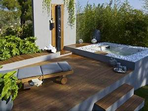 terrasse zen idees et photos pour une terrasse sympa With amenager un jardin paysager 13 fontaine bassin leroy merlin