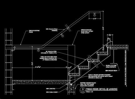free cad details stair landing detail cad design free cad blocks drawings details