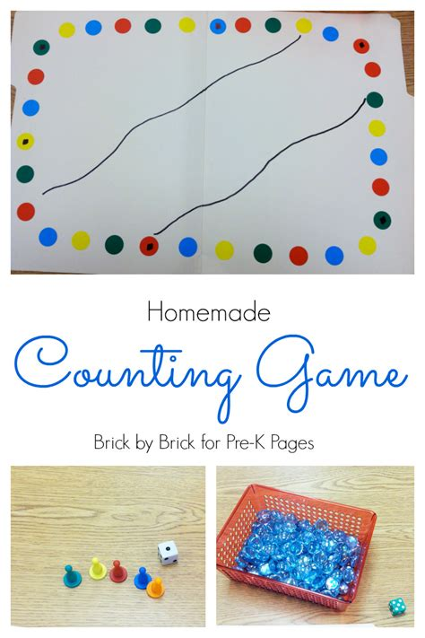 counting pre k pages 644 | Homemade Counting Game