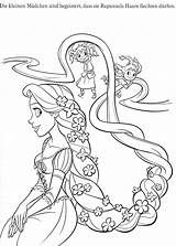 Coloring Rapunzel Pages Printable Disney Tangled Coloriage sketch template