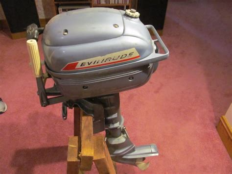 Evinrude Folding Boat Motor by Vintage Evinrude Outboard Shop Collectibles Daily