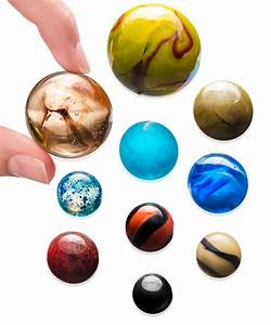 Solar System Marble Set: Collectible set of solar objects ...