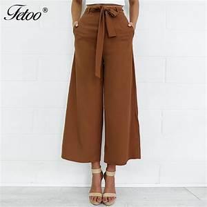 Aliexpress.com : Buy Fetoo 2017 Fashion Women Pants Wide ...