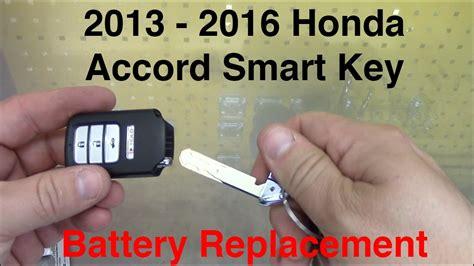 2013-2016 Honda Accord Smart Key Battery Replacement