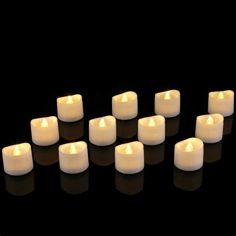 electric tea lights 12pcs wavy led tea light candles warm white xiamen