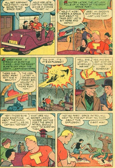 comic book page snap captain tootsie length comic book story by captain marvel s c c beck studio