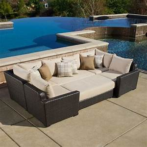 Paradiso 6 piece deep seating modular sectional costo for Outdoor sectional sofa costco