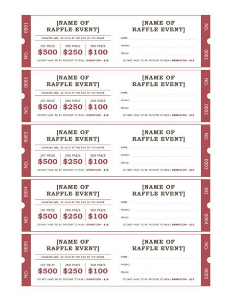 microsoft raffle ticket template 118 best images about spa on pinterest branding design