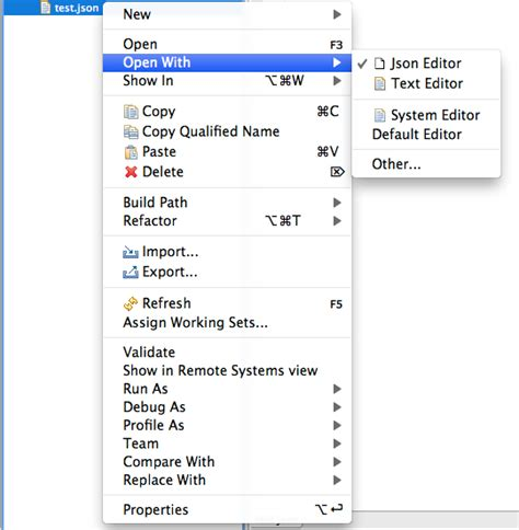 json eclipse editor install file open improve answer stack