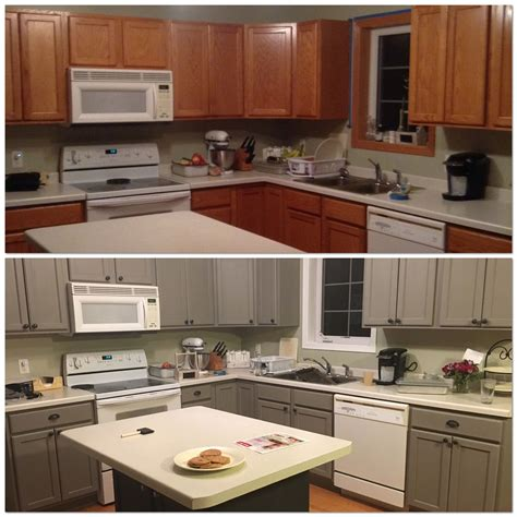 Sloan Kitchen Cupboards by Before And After Painting My Kitchen Cupboards With