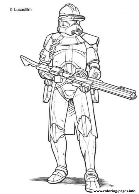 Clone Trooper Kleurplaat by Wars Clone Troopers Coloring Pages Printable