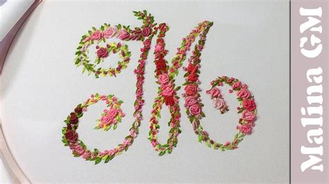 hand embroidery monogram    embroider  letter youtube