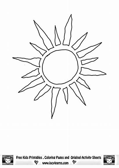 Sun Coloring Pages Moon Template Templates Printable