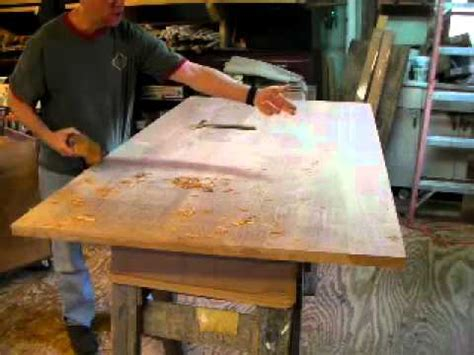 hand planing  table top  timothy clark cabinetmaker