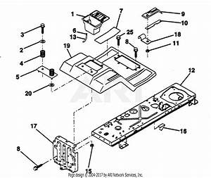 Poulan Pp11536ka Tractor Parts Diagram For Fender    Chassis