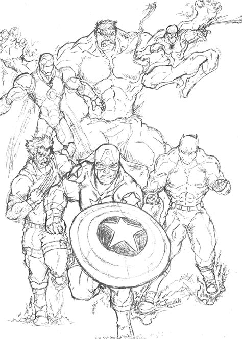 marvel super hero coloring pages avengers coloring pages