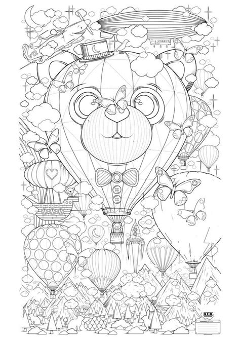 coloring pages  hot air balloons coloring home