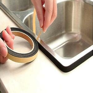 how to seal kitchen sink edges self adhesive seal kitchen door window gas stove