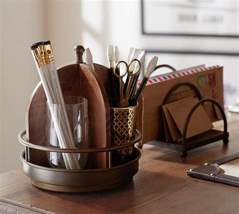 Pottery Barn Office Desk Accessories by Printer S Home Office Desk Accessories Pottery Barn