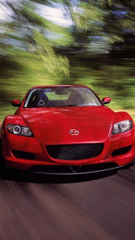 Mazda Iphone Wallpaper by Mazda Rx 8 Front Angle Iphone 5s Wallpaper Iphone 5