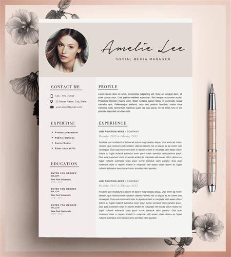 creative resume template minimalist resume cv design