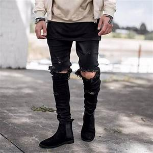 Online Get Cheap Black Ripped Skinny Jeans -Aliexpress.com ...