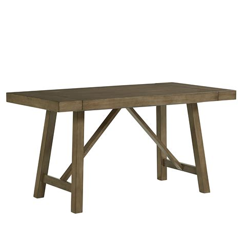 standard dining table height standard furniture omaha grey counter height dining room table with trestle base powell s