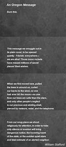 Telephone Message Book An Oregon Message Poem By William Stafford Poem Hunter