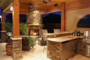 upgrade your backyard with an outdoor kitchen With outdoor kitchen and fireplace designs