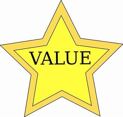 Value Clipart Star Valuable Values Clip Cliparts