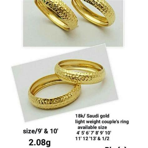 18k saudi gold wedding ring shopee philippines