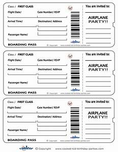 printable airplane boarding pass invitations coolest With free printable plane ticket template
