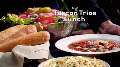 soup and salad olive garden olive garden tuscan lunch tv soup