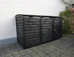 Holz Farbe Anthrazit : m lltonnenbox f r 4 tonnen m llcontainer m llbox holz 289x92x122cm anthrazit ~ Orissabook.com Haus und Dekorationen