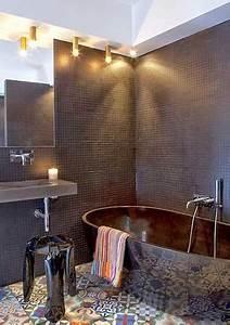 salle de bain design avec carrelage sol en carreaux de With carreaux de ciment design
